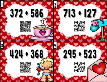 Valentine's Day 3 Digit Addition and Subtraction MEGA PACK