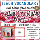 Valentine's Day 30 Flash Cards: Photo front and Word back