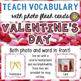 Valentine's Day 30 Flash Cards - Photo and Word in front