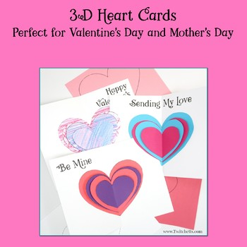 Valentine's Day 3D Heart Cards