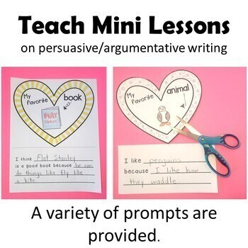 Valentine's Day 3D Heart Craft & Write My Favorites Opinion Book