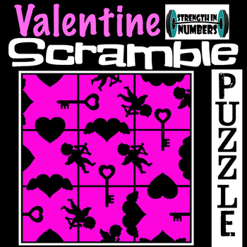 Valentine's Day 3x3 SCRAMBLE Puzzle for Early Finishers