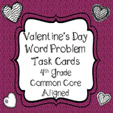 Valentine's Day 4th Grade Math Word Problem Task Cards Com