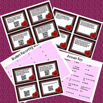 Valentine's Day Math Task Cards - Word Problems Common Core Aligned