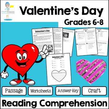 Valentine\'s Day Reading Passage Teaching Resources | Teachers Pay ...