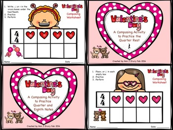 Valentine's Day - A Bundle of Composing Worksheets