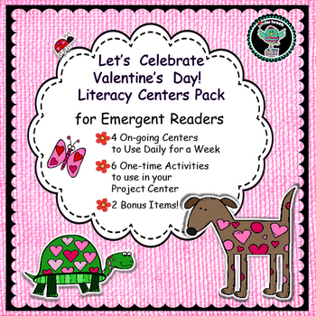 Valentine's Day   A Week of  Literacy Centers for Emergent Readers