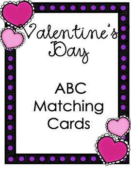 Valentine's Day ABC Matching