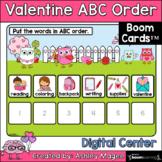 Valentine's Day ABC Order Center - Boom Cards - Digital Di