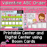 Valentine's Day ABC Order Center - Printable and Digital D