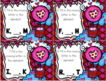 Valentine's Day ABC Order Task Card Literacy Center