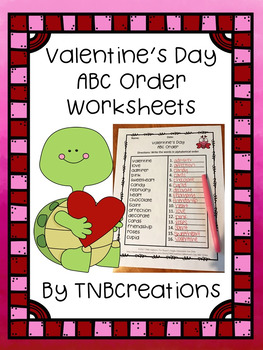 Valentine's Day ABC Order Worksheets