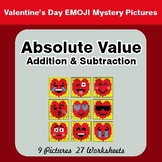 Absolute Value - Addition & Subtraction -  Valentine's Math Mystery Pictures