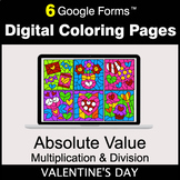 Valentine's Day: Absolute Value: Multiplication & Division