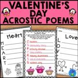 Valentine's Day Acrostic Poems | Valentine's Day Writing Activity