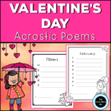 Valentine's Day Acrostic Poems February Creative Writing Activity