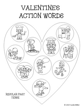 Valentine's Day Action Words Dots - Freebie