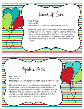 Valentine S Day Party Activities By The Brighter Rewriter Tpt