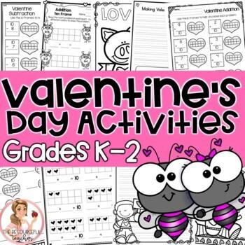 Valentine's Day NO PREP Activities Grades K-2