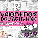 Valentine's Day NO PREP Activities Grades K-2