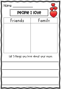 Valentine's Day Sorting Activities - February No Prep Literacy