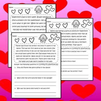 Valentine's Day Activities Bundle - Math Language Arts & STEM Project