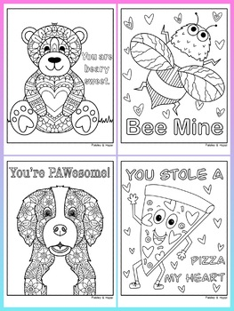 Valentine's Day Activity- Cute/Funny Coloring Pages