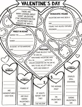 Valentine's Day Activities - Fact Hunt and Doodle Infographic