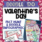 Valentine's Day Activities - Fact Hunt and Doodle Poster -