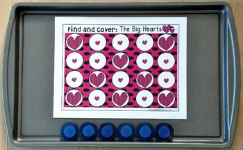 "Valentine's Day Activities: ""Find and Cover"""