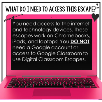 Valentine's Day Activities Google Classroom Digital Escape Room HOLIDAY FUN
