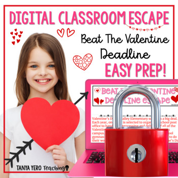 Valentine's Day Activities Google Classroom Digital Escape Room HOLIDAY FUN