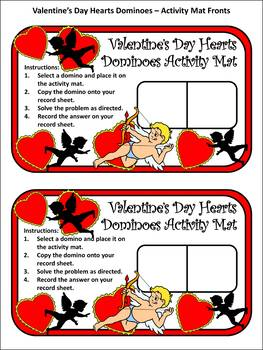 Valentine's Day Activities: Heart Dominoes Math Activity & Math Game