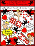 Valentine's Day Activities: Heart Dominoes Valentine's Day Game Bundle -Color&BW