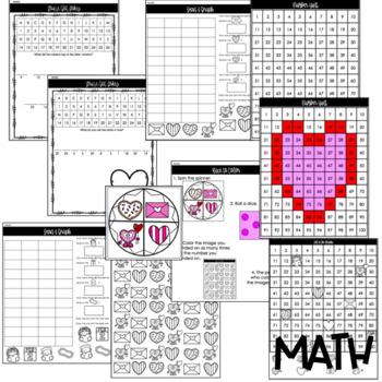 Valentine's Day Activities - Math + Literacy