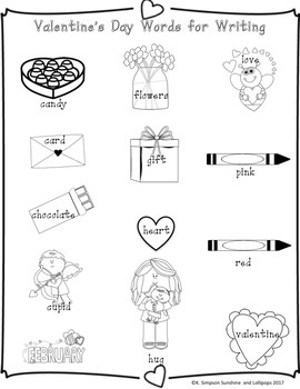 Valentine's Day Activities Math, Writing fun and for First Grade