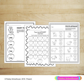 Valentine's Day Activities: Math and Literacy Worksheets & Activities - No Prep