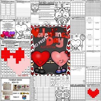 Valentine's Day Activities NO PREP