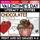 Valentine's Day Activities | Chocolate | No PREP Close Read and Write