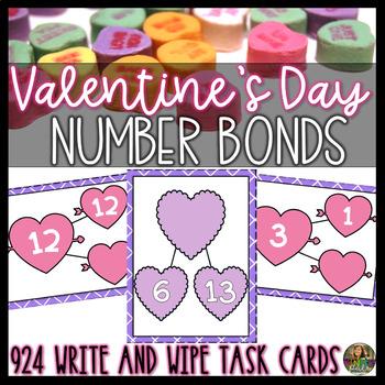 Valentine's Day Activities- Number Bonds to 20 Math Center