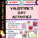Valentine's Day Activities (Spanish Version)- Actividades