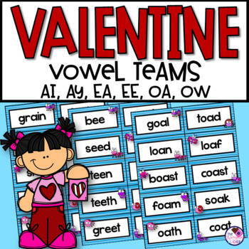 Valentine's Day Activities With Vowel Teams AI, AY, EA, EE, OA, OW