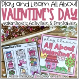 Valentine's Day Activities and Printables Busy Book for Little Learners