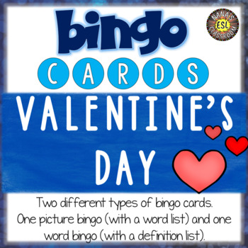 Valentine's Day Activities for ESL Bingo Cards