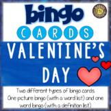 Valentine's Day ESL Activities Bingo Cards