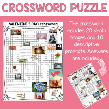 Valentine's Day Activities for ESL Crossword Puzzle