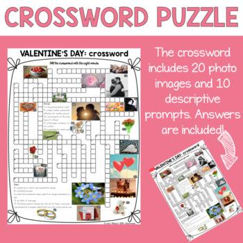 Valentine's Day ESL/ELL Activity Crossword Puzzle