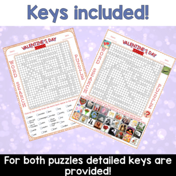 Valentine's Day ESL Activities Word Search Puzzles