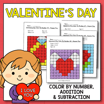 Valentine's Day Activities for Kindergarten - Valentines Day Mystery Pictures