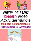 Valentine's Day Activities in Spanish for Intermediate - A